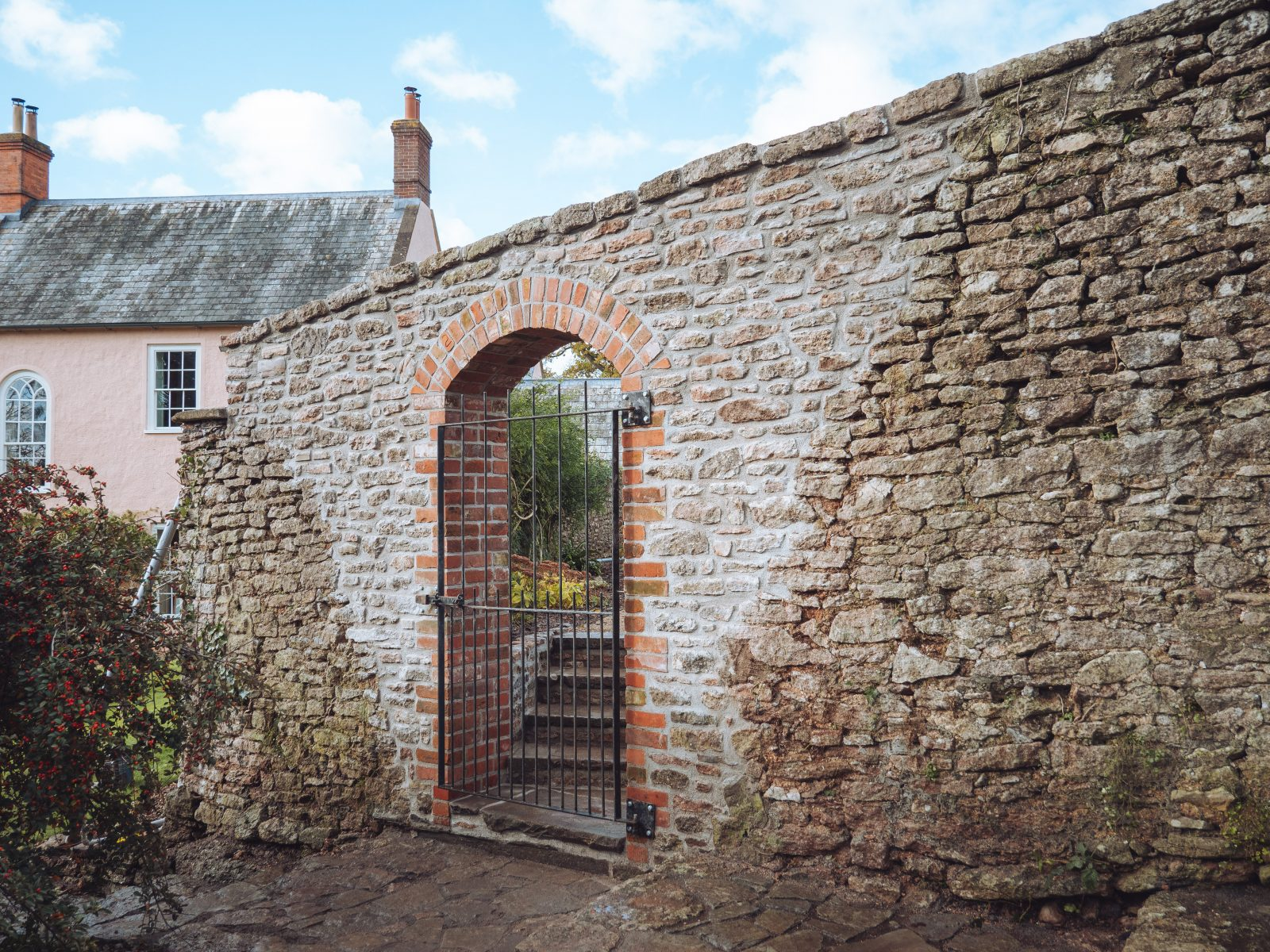 Garden wall restoration