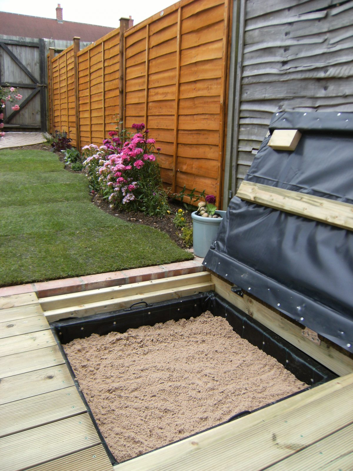 Sand Pit in Deck